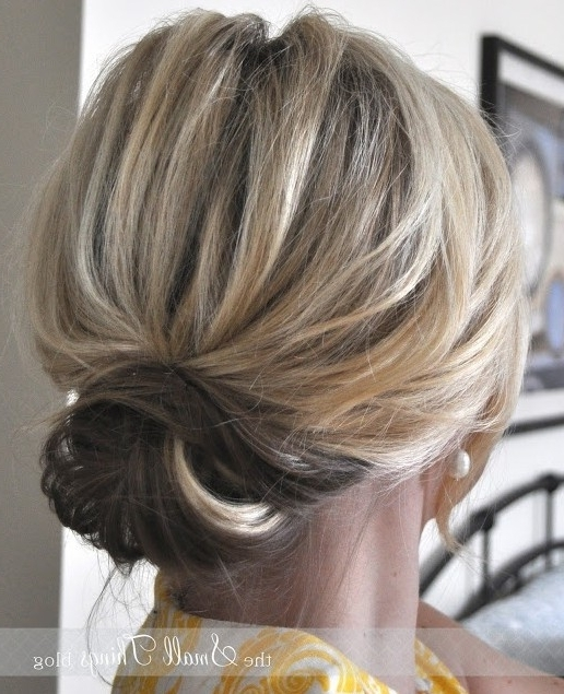 2014 Cute Easy Updo Bun For Medium Hair – Popular Haircuts With Regard To Most Recently Easy Updo Hairstyles For Layered Hair (View 6 of 15)
