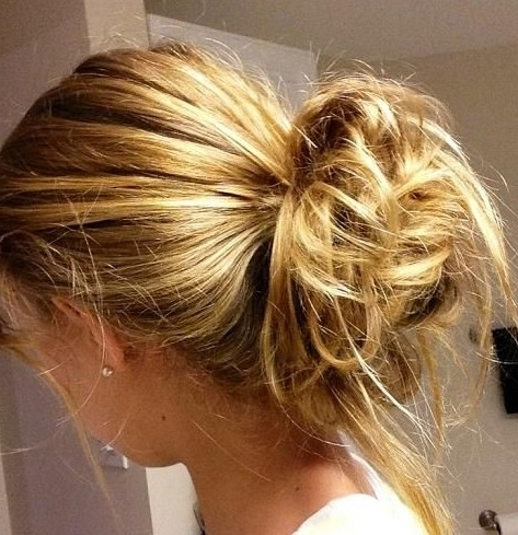 2014 Updo Hairstyles Easy Messy Updos For Everyday – Updo Hairstyles With 2018 Easy Everyday Updo Hairstyles For Long Hair (View 11 of 15)