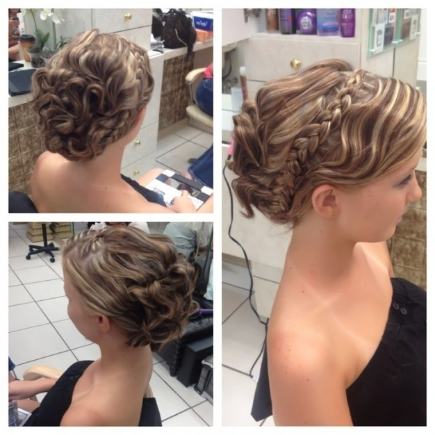 2017 Prom Updo Hairstyles For Medium Length Hair Regarding Dressy With Best And Newest Formal Updo Hairstyles For Medium Hair (View 3 of 15)