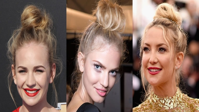 2018 Updo Bun Hairstyles For Women – 20 Fantastic Bun Hair Ideas Pertaining To Newest Updo Bun Hairstyles (View 3 of 15)