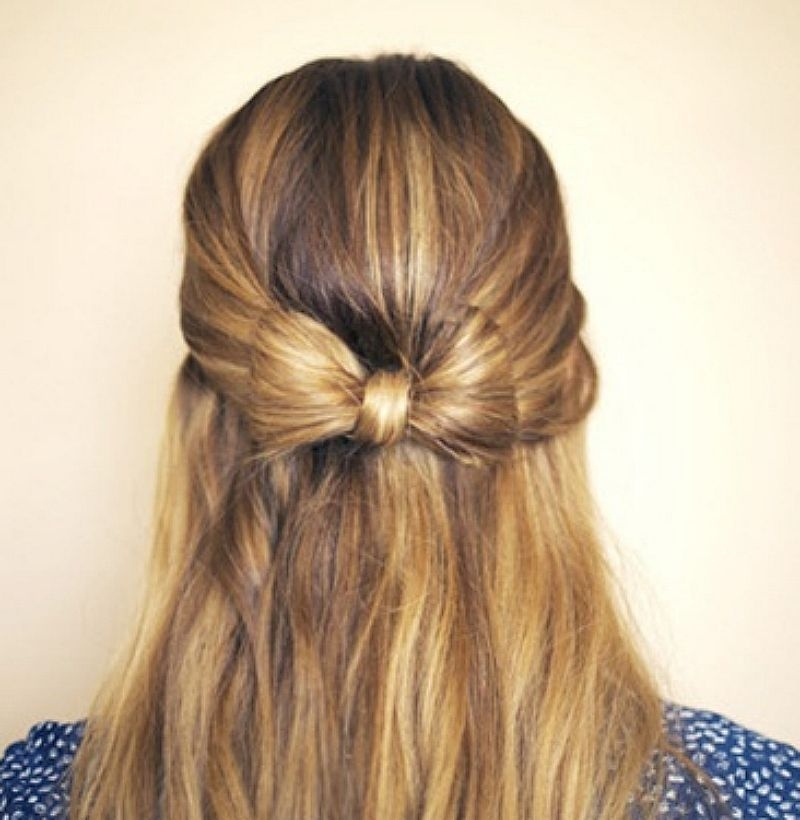 21 Gorgeous Half Up, Half Down Hairstyles | Babble With Recent Straight Half Updo Hairstyles (View 2 of 15)