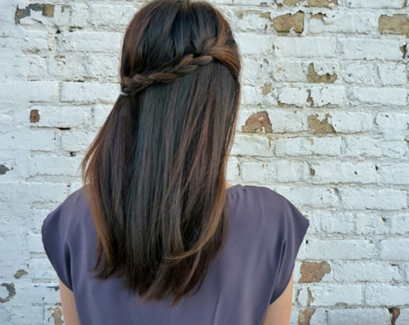 21 Gorgeous Half Up, Half Down Hairstyles | Babble With Regard To Current Diy Half Updo Hairstyles For Long Hair (View 2 of 15)