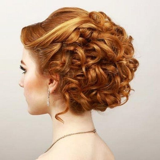 21 Gorgeous Homecoming Hairstyles For All Hair Lengths   Elegant In Newest Updo Hairstyles For Short Curly Hair (View 6 of 15)