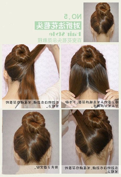 21 Ridiculously Easy Hairstyles You Can Do With Spin Pins | Easy Within Latest Easy Updo Hairstyles For Long Thick Hair (View 2 of 15)