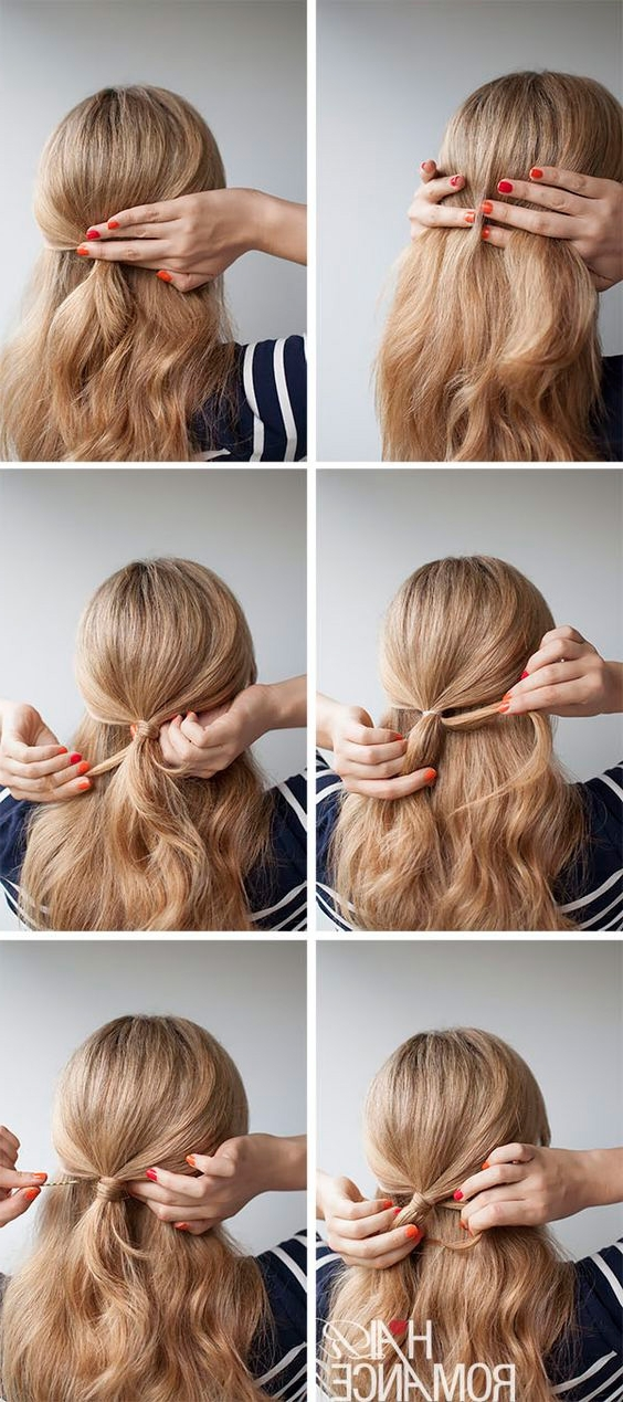 22 Easy Half Up Hairstyle Tutorials You Have To Try – Gurl With Latest Diy Half Updo Hairstyles For Long Hair (View 15 of 15)