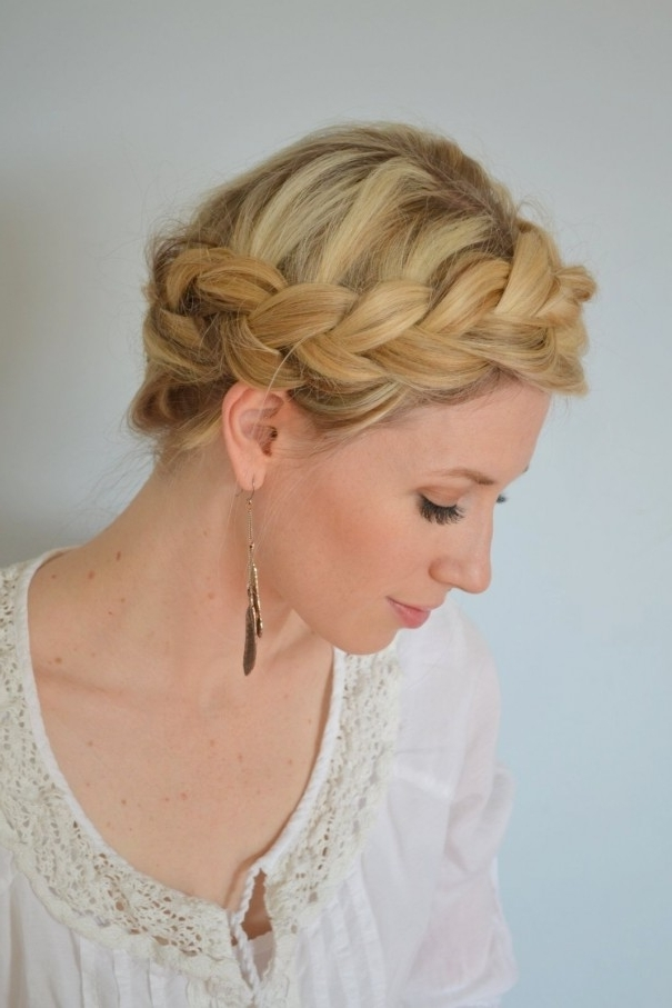 22 Ways To Make Your Hairstyle With Braids – Pretty Designs With 2018 Braided Crown Updo Hairstyles (View 3 of 15)