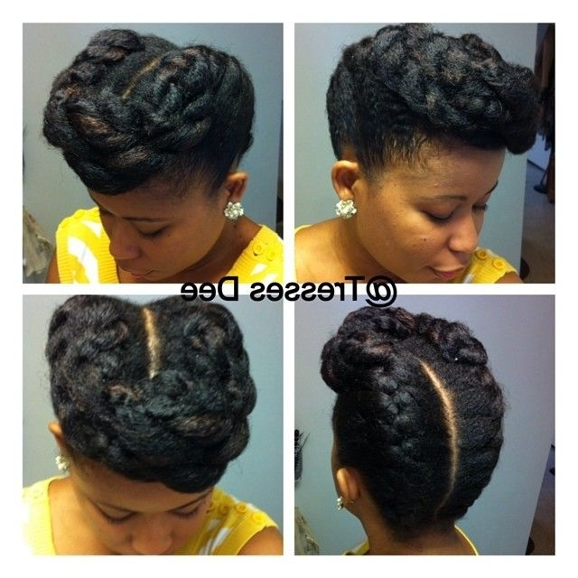 228 Best Natural Hair Images On Pinterest | Natural Hair, African For Newest Updo Hairstyles For Natural Hair With Weave (View 6 of 15)