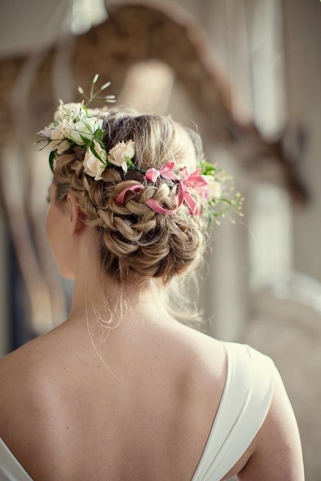 23 Glamorous Bridal Hairstyles With Flowers – Pretty Designs With Most Recently Updo Hairstyles With Flowers (View 3 of 15)