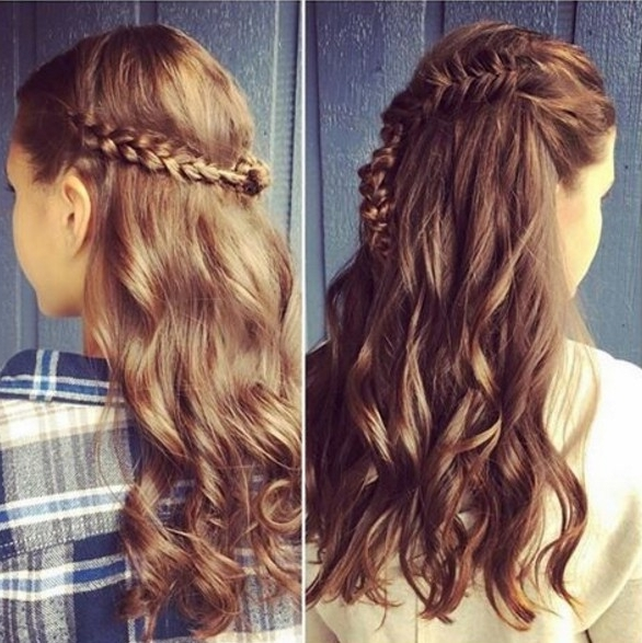 23 Latest Half Up Half Down Hairstyle Trends For 2016 – Pretty Designs Inside Most Up To Date Long Hair Half Updo Hairstyles (View 5 of 15)