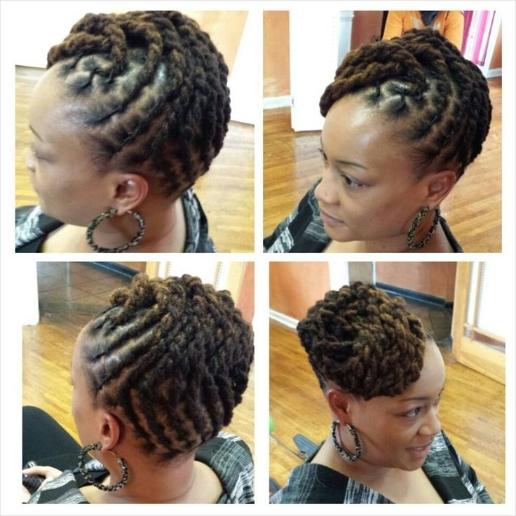 233 Best Loc Updos Images On Pinterest | Dreadlock Hairstyles With Best And Newest Loc Updo Hairstyles (View 7 of 15)