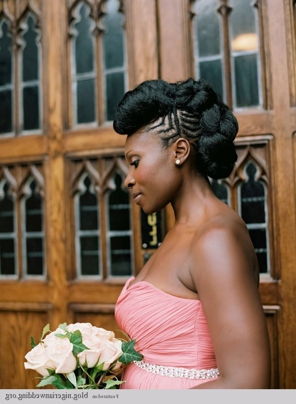 Showing Gallery Of Natural Hair Updo Hairstyles For Weddings View