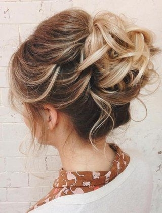25 Chic Braided Updos For Medium Length Hair | Medium Length Hairs With Regard To Most Up To Date Loose Updo Hairstyles For Medium Length Hair (View 5 of 15)