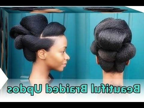 25 Cute Braided Updos For Natural Black Hair, African Bun Hairstyles In Latest Natural Updo Bun Hairstyles (View 13 of 15)