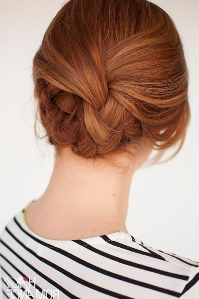 25 Easy Wedding Hairstyles You Can Diy | Bridalguide Inside Newest Long Hair Updo Hairstyles For Work (View 11 of 15)