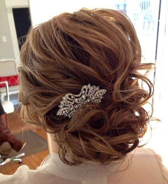 25 Glorious Wedding Hairstyles For Medium Hair 2017 – Pretty Designs For Recent Updo Hairstyles With Bangs For Medium Length Hair (View 5 of 15)