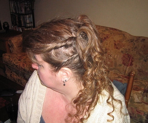 25 Incredible Half Updo Hairstyles | Creativefan Throughout Best And Newest Half Curly Updo Hairstyles (View 3 of 15)