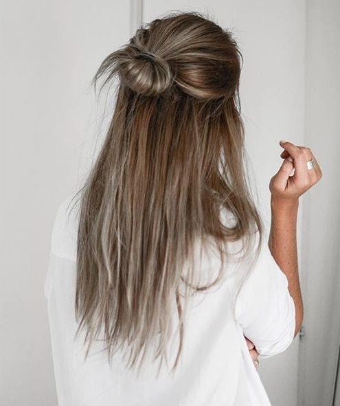 25 Lovely Ponytail Hair Ideas | Straight Hairstyles, Half Updo And Updo For Most Recent Straight Half Updo Hairstyles (View 3 of 15)