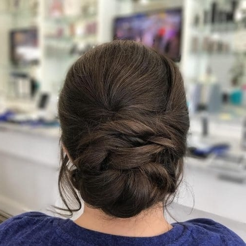 25 Most Beautiful Updos For Medium Length Hair (New For 2018) In Most Recently Dressy Updo Hairstyles (View 9 of 15)