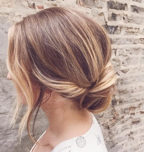 25 Most Beautiful Updos For Medium Length Hair (New For 2018) Inside Current Updos For Layered Hair With Bangs (View 4 of 15)