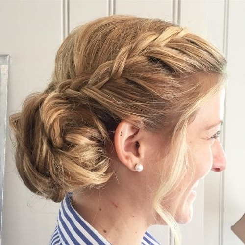 25 Most Beautiful Updos For Medium Length Hair (New For 2018) Pertaining To Most Popular Updos For Layered Hair With Bangs (View 5 of 15)