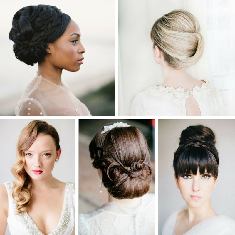 25 Ridiculously Romantic Bridal Updos : Chic Vintage Brides In Recent Vintage Updo Hairstyles (View 9 of 15)