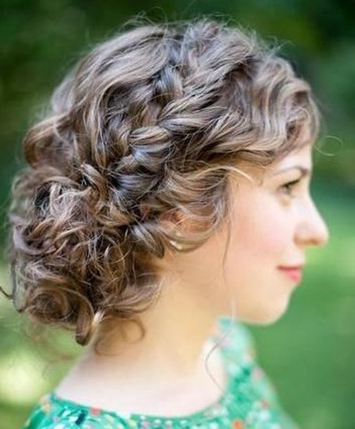 25 Special Occasion Hairstyles | Curly Updo Hairstyles, Updo And Curly In Most Recent Curly Updo Hairstyles For Medium Length Hair (View 10 of 15)