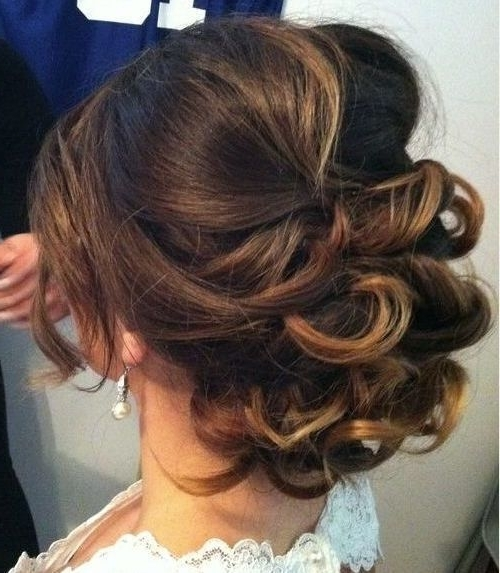 25 Special Occasion Hairstyles | Loose Curly Updo, Medium Hair And Updo Inside Best And Newest Soft Updo Hairstyles For Medium Length Hair (View 7 of 15)