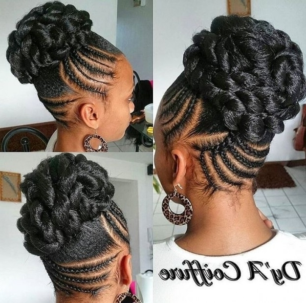 25 Trendy Updo Hairstyles For Black Women – Afrocosmopolitan Within For Newest Braided Updo Hairstyles For Black Hair (View 1 of 15)