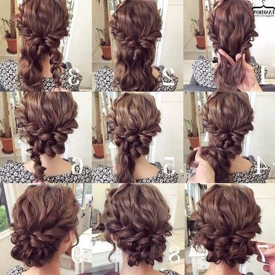 26 Amazing Bun Updo Ideas For Long & Medium Length Hair   Bun Updo Pertaining To Newest Updo Hairstyles For Long Curly Hair (View 3 of 15)