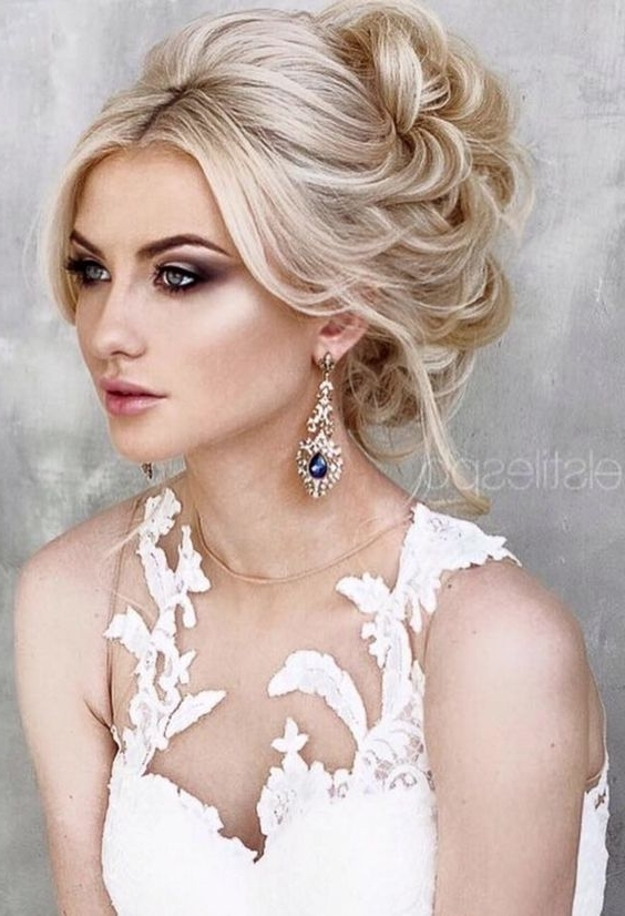 26 Best Makeup Images On Pinterest | Hairstyle Ideas, Wedding Hair Intended For Most Recent Updo Hairstyles For Long Hair With Bangs (View 4 of 15)