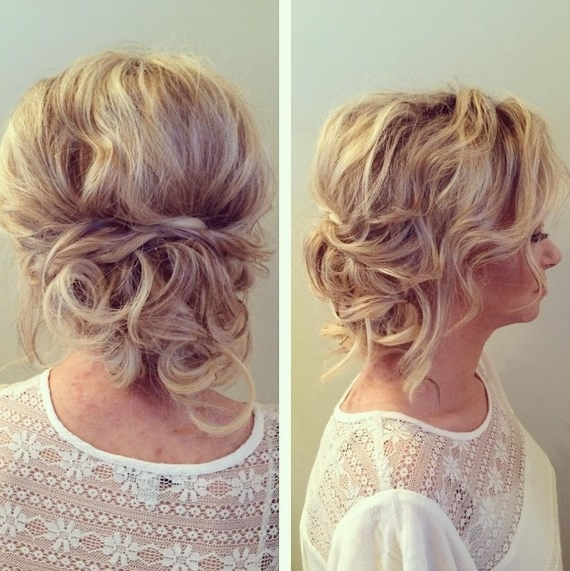 27 Trendy Updos For Medium Length Hair: Updo Hairstyle Ideas For 2017 Inside Most Popular Curly Updos For Medium Hair (View 2 of 15)