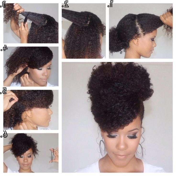 274 Best Hair Styles Tutorial Images On Pinterest | Natural Hair Intended For Latest Quick Updo Hairstyles For Natural Black Hair (View 4 of 15)