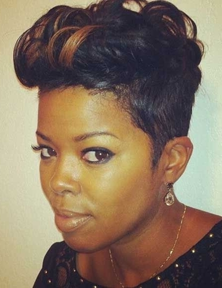 28 Trendy Black Women Hairstyles For Short Hair – Popular Haircuts With Newest Updos For Short Hair For African American (View 3 of 15)