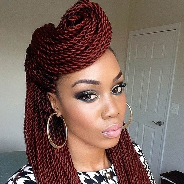 29 Senegalese Twist Hairstyles For Black Women | Senegalese Twist With Regard To Most Current Senegalese Twist Styles Updo Hairstyles (View 2 of 15)
