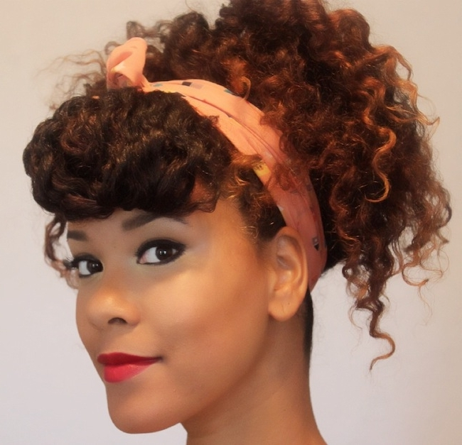 3 Up Dos To Try From A Twist Out   The Layer – Loxa Beauty® For Newest Updo Twist Out Hairstyles (View 7 of 15)
