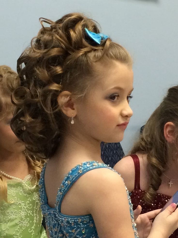 30 Best Curly Hairstyles For Kids | Beauty Pageant, Pageants And Throughout Recent Children's Updo Hairstyles (View 6 of 15)