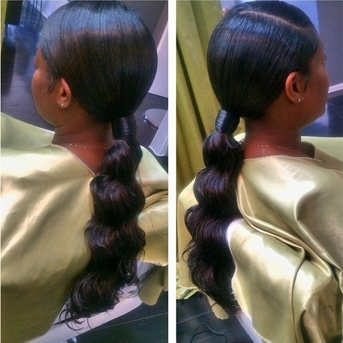 30 Classy Black Ponytail Hairstyles Throughout Most Recently Black Ponytail Updo Hairstyles (View 8 of 15)