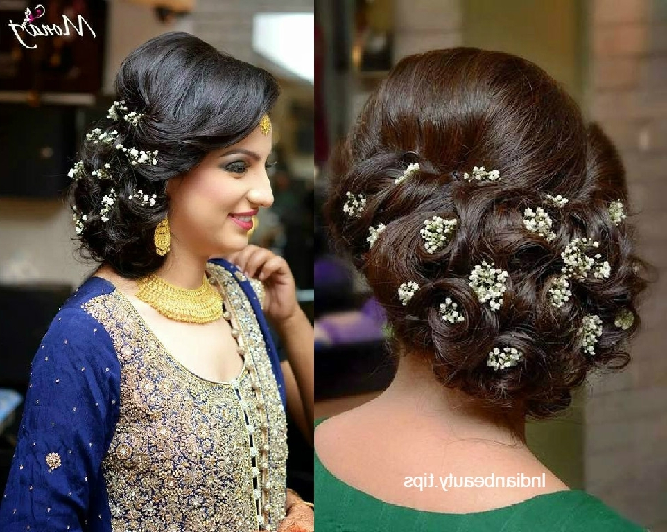 30 Elegant Bridal Updo Hairstyles – Indian Beauty Tips Within Recent Bridal Bun Updo Hairstyles (View 15 of 15)