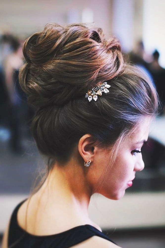 30 Eye Catching Wedding Bun Hairstyles | Wedding Bun Hairstyles With Newest Long Hair Updo Hairstyles For Over (View 14 of 15)
