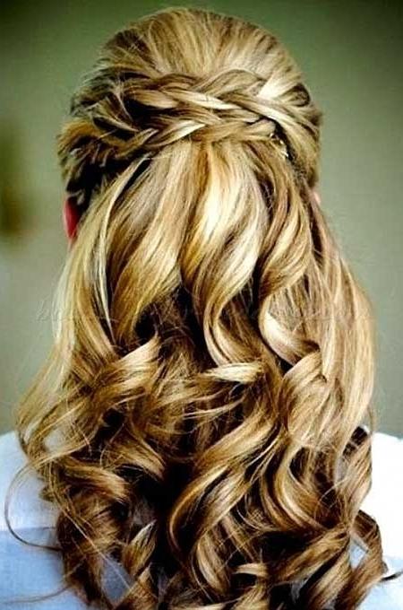 30 Gorgeous Braided Half Up Half Down Hairstyles | Hairstyles In 2018 Braided Half Updo Hairstyles (View 15 of 15)