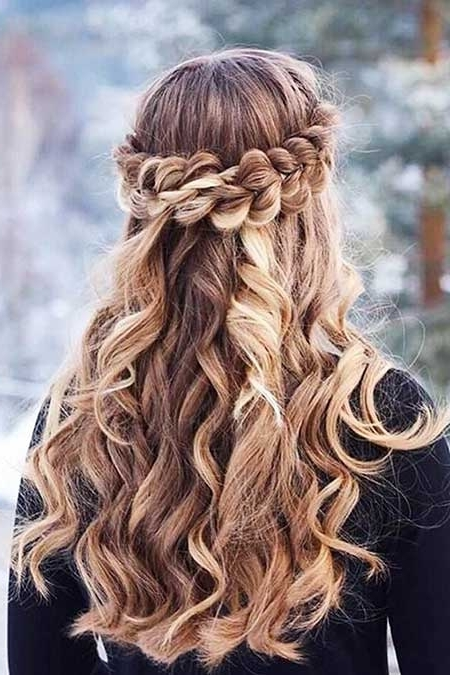 30 Gorgeous Braided Half Up Half Down Hairstyles | Hairstyles In Most Up To Date Braided Half Updo Hairstyles (View 2 of 15)