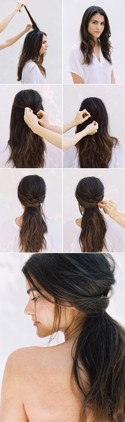 30 Most Flattering Half Up Hairstyle Tutorials To Rock Any Event For Newest Easy Long Hair Half Updo Hairstyles (View 7 of 15)