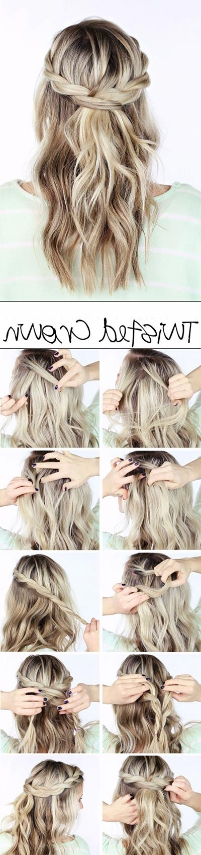 30 Most Flattering Half Up Hairstyle Tutorials To Rock Any Event With Regard To Latest Diy Half Updo Hairstyles For Long Hair (View 6 of 15)