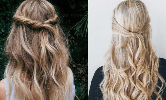 31 Amazing Half Up Half Down Hairstyles For Long Hair – The Goddess Regarding Latest Long Hair Half Updo Hairstyles (View 13 of 15)