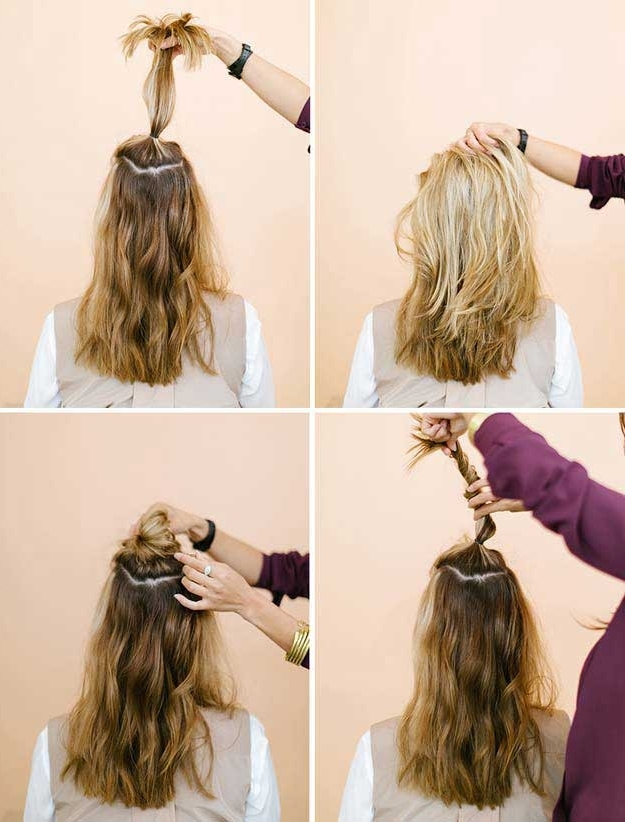 31 Amazing Half Up Half Down Hairstyles For Long Hair – The Goddess Throughout Most Popular Easy Half Updo Hairstyles (View 5 of 15)