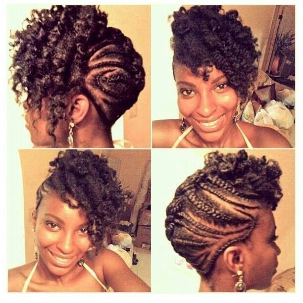 31 Best Braids Updos Images On Pinterest Protective Hairstyles Twist Regarding Best And Newest Braids And Twist Updo Hairstyles (View 8 of 15)