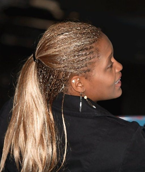 31 Best Ponytail Hairstyles For Women Images On Pinterest | Hair Dos Throughout Recent Cornrow Updo Ponytail Hairstyles (View 2 of 15)