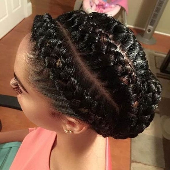 31 Goddess Braids Hairstyles For Black Women | Goddess Braids Updo With Regard To Most Recently Elegant Cornrow Updo Hairstyles (View 2 of 15)
