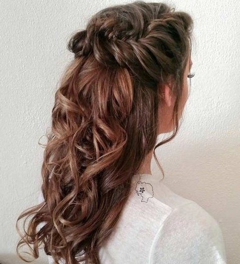 31 Half Up, Half Down Hairstyles For Bridesmaids | Stayglam Within Inside Current Half Up Half Down Updo Hairstyles (View 5 of 15)