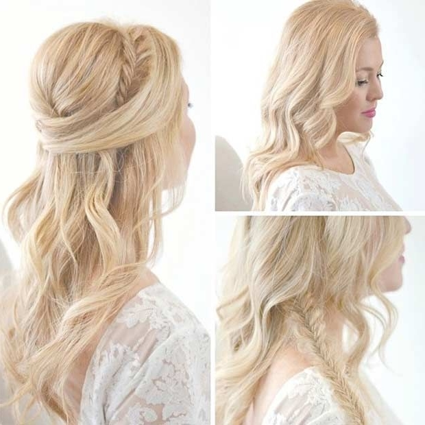 31 Half Up, Half Down Prom Hairstyles | Half Updo, Updo And Braided Pertaining To Best And Newest Elegant Half Updo Hairstyles (View 3 of 15)